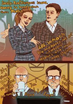 kingsman roxy and eggsy forget that merlin and harry can hear them- Google Search