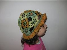 How to make a Crocheted Flower Sun hat