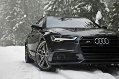 Awesome Audi 2017: Audi S6 on snow...  Hot Stuff