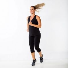 Walk in place, swinging arms naturally. Progress into a march, driving knees up higher, moving into jogging as quickly as possible.