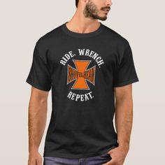 Shovelhead - Ride - Wrench - Repeat - Harley Biker T-Shirt   motorcycle quotes couples, biker kids, supercross quotes #bikelove #bikersoul #bikershit, 4th of july party Biker Gloves, Biker Tattoos, Biker Shirts, Motorcycle Quotes, Lady Biker, Biker Style, Repeat, Biker Outfits, Fitness Models