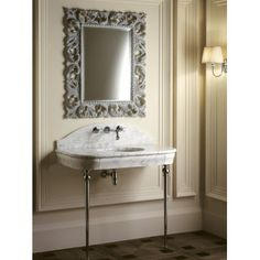 The charm of the Palace Console by Devon&Devon is embodied in the classic white Carrara marble that forms its sensuous shape…and is also available in black Marquinha. Traditional Baths, Traditional Bathroom, Devon Devon, Palace, Classic Bathroom, Bath Vanities, Sinks, Luxury Interior Design, Bathroom Furniture