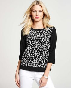 Ann Taylor - AT Blouses Tops - Graphic Dot Top