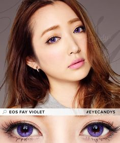 Color contacts for brown eyes. These EOS Fay lenses feature a high-opacity starburst pattern to cover your dark eye color and make your eyes pop! #eyecandys #circlelenses #coloredcontacts