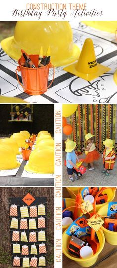Construction Theme Birthday Party Activities | Ellen Jay Events on http://TheCelebrationShoppe.com