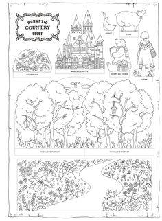 Romantic Country ロマンティック・カントリー 美しい城が佇む国「COCOT」のファンタジー塗り絵ブック | Eriy | 本-通販 | Amazon.co.jp