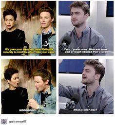 Daniel Radcliff and Eddie Redmayne - Harry Potter