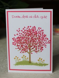 Dankeskarte, thank you, card, Stampin Up, AnnasBastelkiste