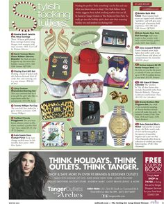 A holiday guide for Tanger Outlets shoppers.