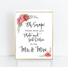 Photo Guest Book Sign  8x10 Digital File  Instant by DayAndDetails