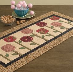 Image result for applique table runner for library