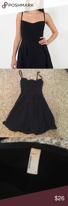 Black American apparel bustier dress small Good condition, no rips or tears. Wore only a few times American Apparel Dresses Mini