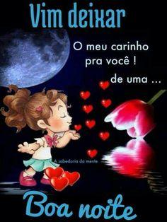 Bons sonhos meu amor, boa noite bons sonhos, beijo de boa n Good Day Song, Videos Tumblr, Mood, Good Night, Activities, Funny, Instagram, Gifs, Portuguese Quotes