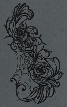 Gothic Gala - Roses | Urban Threads: Unique and Awesome Embroidery Designs