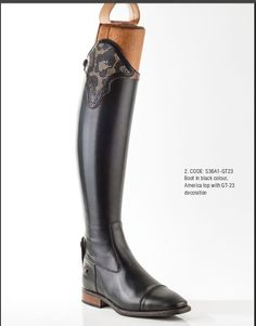 Crystals in black leopard pattern, America top Field boot.  Contact us at stylemyride.net to order. Our #boots, come in traditonal competion colors and designs, or any color your heart desires.  Style My Ride also innovated the interchangeable top, where riders can go from an all black traditonal look,  and swap it out with as many options in leathers, colors , crystals, etc.  once can imagine! #fashion, #equestrian