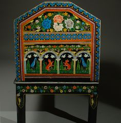 Vintage Mexican Painted and Lacquered Chest - Olinala image 7