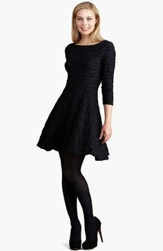 "A black dress. The ""little black dress"" is a cliche for a reason: It's a wardrobe necessity. | Donna Morgan Jacquard Fit & Flare Dress | Nordstrom | $138 | Wardrobe basics"