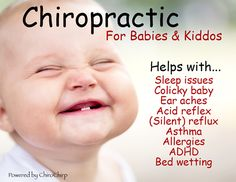 Kids need chiropractic too