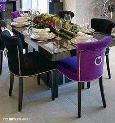 Krzesło tapicerowane nowoczesne z kołatką do jadalni salonu FIOLET WRZOS LARGO