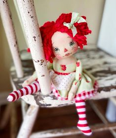 Ann Doll, Raggedy Ann, Handmade Home, Dolls, Instagram, Link, Shop, Doll Outfits, Fabric Dolls
