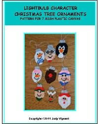 Plastic Canvas Sheets | Everything Plastic Canvas - Lightbulb Character Chrstmas Tree ...