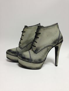 ruffled up leather boots