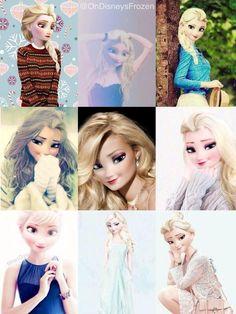 Queen Elsa in her daily life