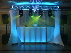 Dj facade with truss lights Pista Led, Dj Packages, Dj Dj Dj, Dj Table, Decoration Evenementielle, Dj Photos, Dj Setup, Wedding Set Up, Luxury Wedding