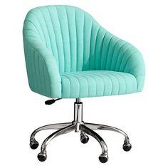 Soho Desk Chair Light Grey Linen Blend