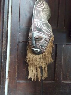 African Tribal Ceremonial Voodoo MASK for CARNIVAL - Scary