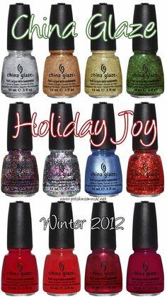 The China Glaze Holiday Joy Collection