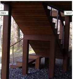 detailed back of steps