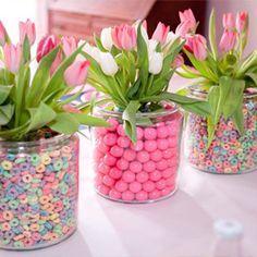 Конфетные вазы для цветов