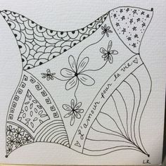 Zentangle by Lisa of Morgan Hill Tangle Club, Sept. 2016