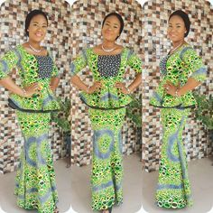 The Hottest and Trendy Ankara Styles To Wear in the Year 2017 - Wedding Digest Naija African Attire, African Wear, African Women, African Dress, African Fashion, African Outfits, African Clothes, Ankara Fashion, African Lace