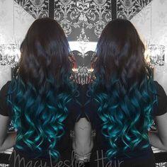 nice 20 Fairy-Like Blau Ombre Frisuren