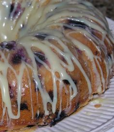 Another cake in the running for Cam's bday... this time Blueberry Cake with a Lemon and White Chocolate Glaze