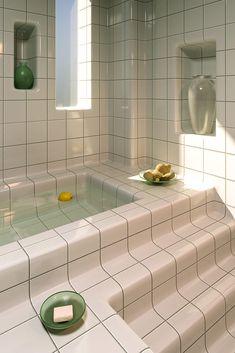 Fabulous homogenous bathroom designed by Charlotte Taylor and Hannes Lippert using DTILE tiles. Dream Home Design, House Design, Aesthetic Room Decor, Aesthetic Green, 90s Aesthetic, Dream Apartment, Seoul Apartment, Room Ideas Bedroom, Study Room Decor
