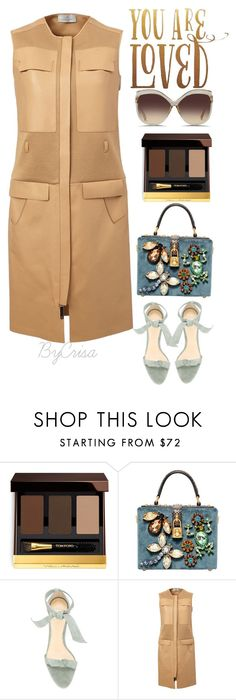 """Untitled #606"" by crisa-gloria-eduardo ❤ liked on Polyvore featuring Tom Ford, Dolce&Gabbana, Alexandre Birman, Maison Ullens and Linda Farrow"