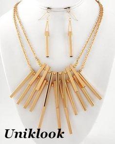 electric star #jewelry necklace set @uniklook.com
