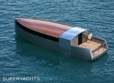 Tenders 'A' Luxury Yacht by Philippe Starck Philippe Starck, Yacht Design, Boat Design, Speed Boats, Power Boats, Course Vintage, Guzzi, Classic Wooden Boats, Yacht Party
