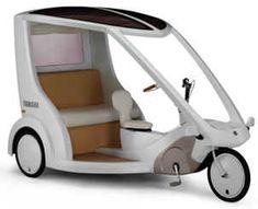 electric rickshaw-  Urban transport on heavy  traffic