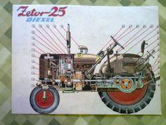 Traktor Zetor 25 Diesel - starý obrázek