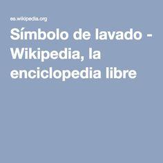 Símbolo de lavado - Wikipedia, la enciclopedia libre