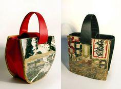 Handmade Handbag made from Skateboards....I have several of these and love them....I got them @ruplumcrazy.com
