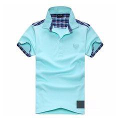 2016 summer men stand collar polo shirt men clothing solid polo shirt business casual polo shirt breathable size L-XXL A16