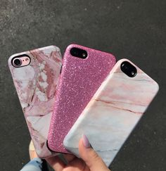 Vibes for the day  Pink everything  Rose Marble, Smoked Coral & Glam Case from Elemental Cases. Shop iPhone 6/6/, 6 Plus/6s Plus, 7 & 7 Plus Cases now!