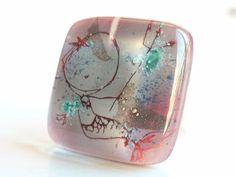Glass ring mermaid. Adjustable glass ring. by BGLASSbcn on Etsy, $25.00