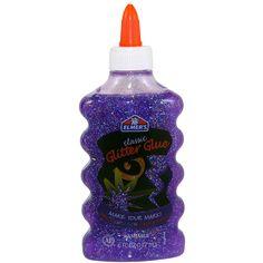 Elmer's Liquid Glitter Glue, Washable, Purple, 6 Ounces, 1 Count - Great For Making Slime Elmer's Glitter Glue, Sprinkle Of Glitter, Glitter Crafts, Glitter Slime, Glitter Toms, Glitter Lipstick, Glittery Nails, Glitter Force, Gifts