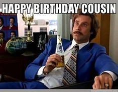 If your cousin is celebrating a birthday make them laugh we our funniest happy birthday cousin meme 🎉 Happy Birthday Cousin Meme, Wish You Happy Birthday, Happy Belated Birthday, Singing Happy Birthday, Crazy Meme, Just Thinking About You, Popular Ads, Great Memories, Cousins